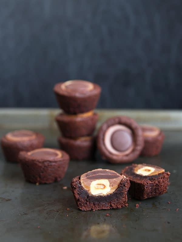 Brownie Bites with Toffifee