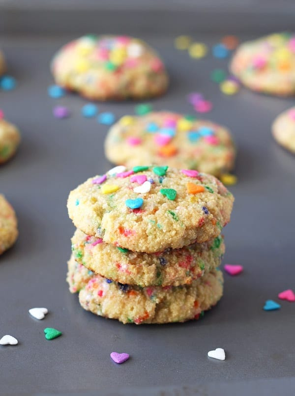 Funfetti Cookies Stacked