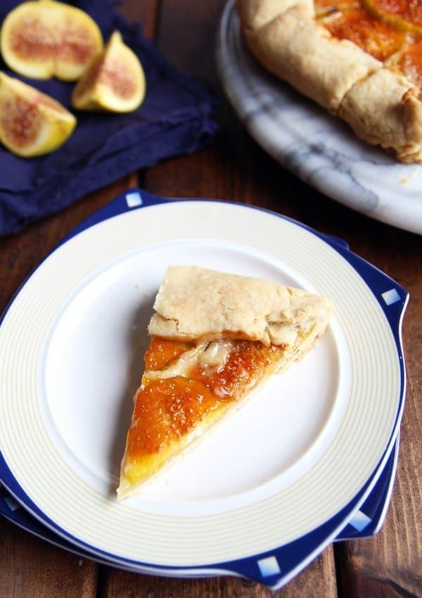 Wedge of Rustic Fig Tart