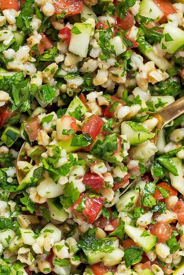 Closeup of Tabbouleh Salad