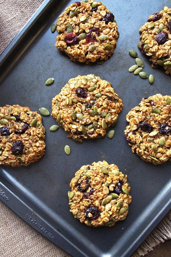 Healthy Baked Breakfast Cookies