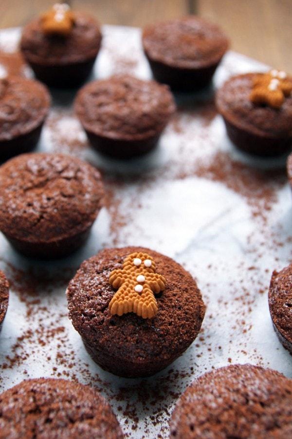 Fudgy Gingerbread Brownie Bites