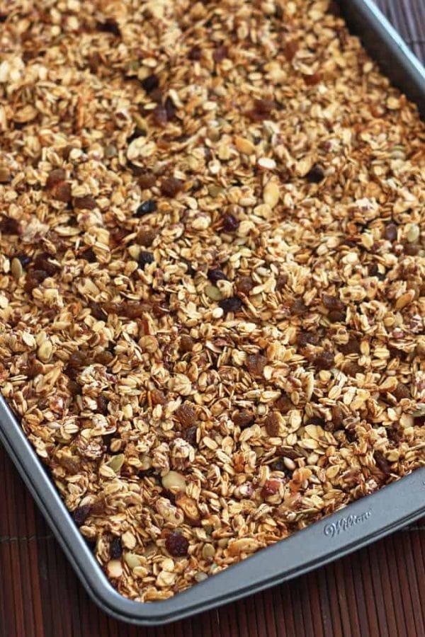 Apple Granola on Baking Tray