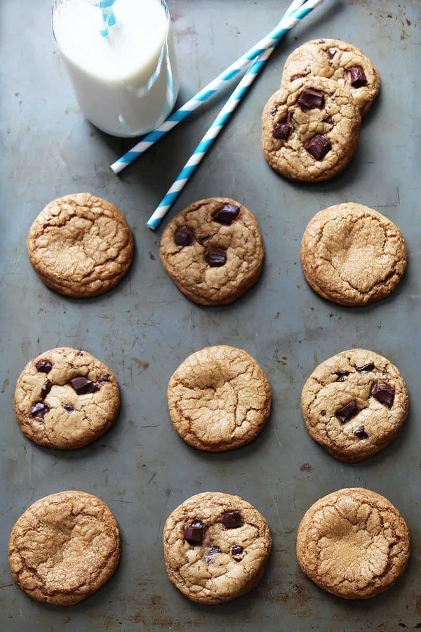 Coconut Sugar Cookies with Chocolate