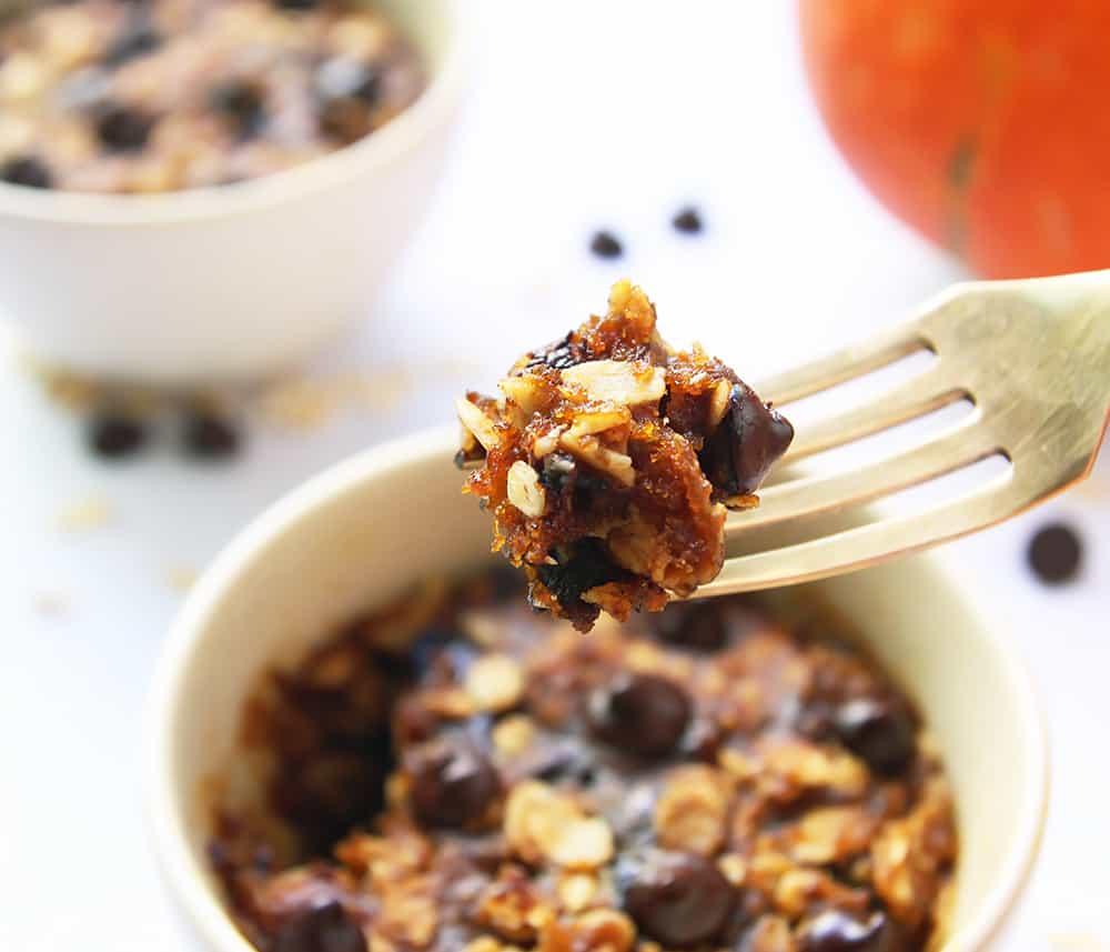 Pumpkin Oatmeal Mug Cookie