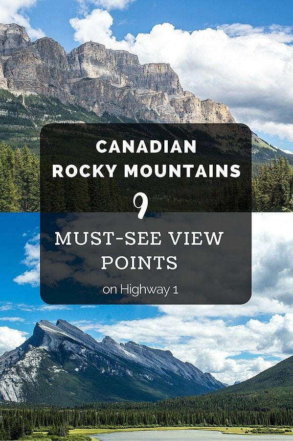 Nine Canadian Rockies Views