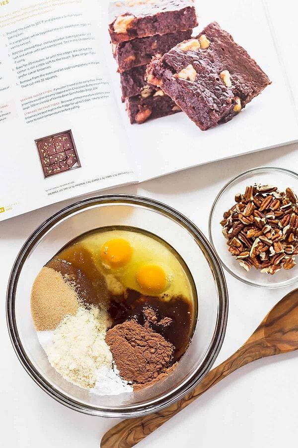 Keto Brownies Ingredients in Bowl