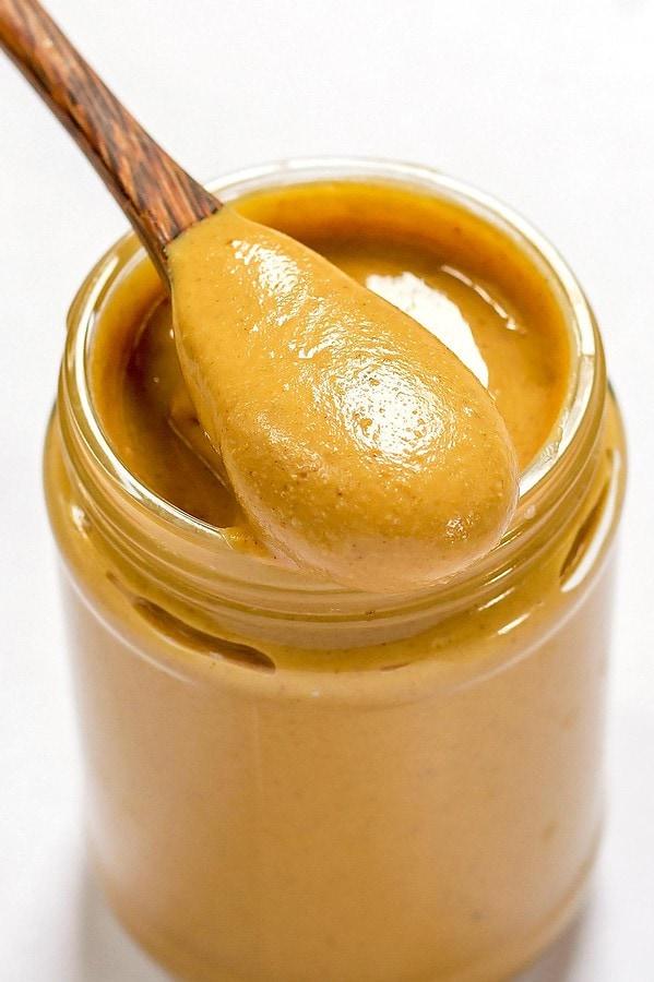 Jar of Homemade Peanut Butter