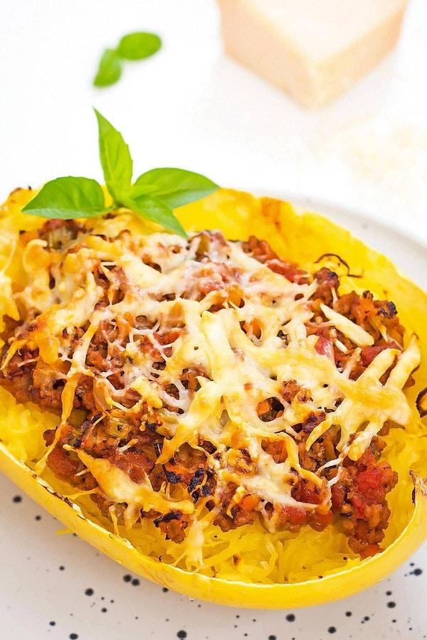 Low carb spaghetti squash bolognese