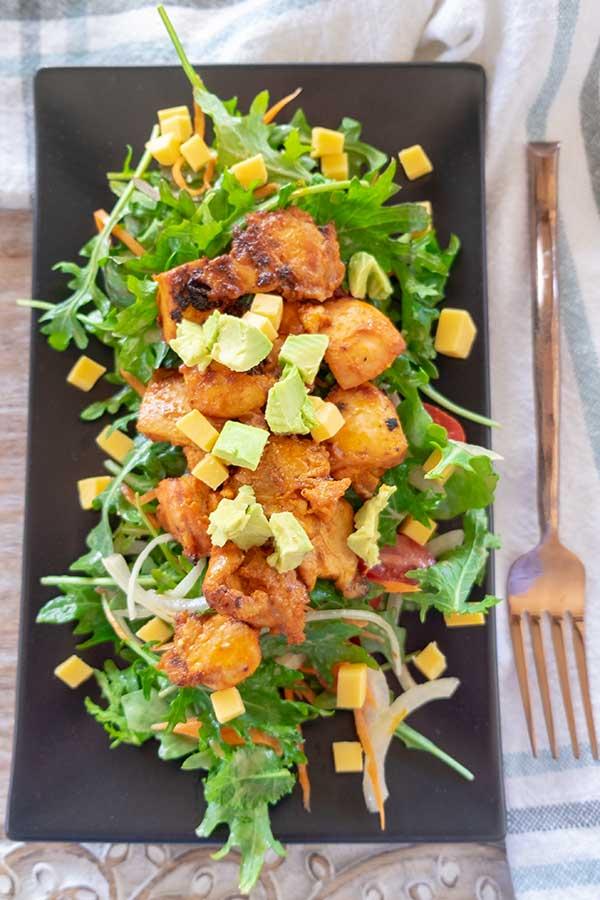 chicken kale salad, Keto