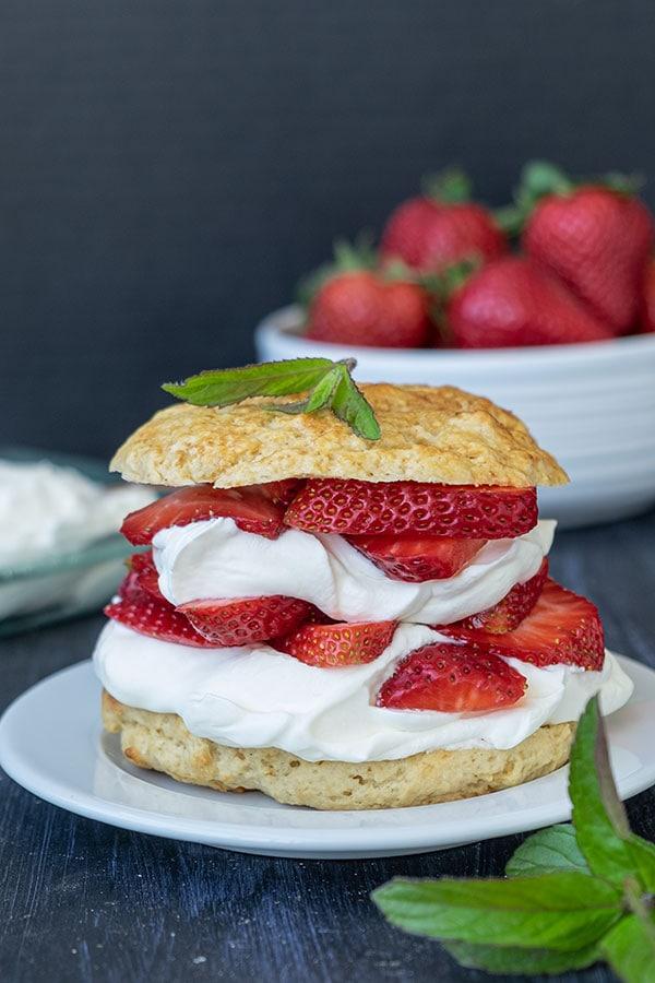 strawberry shortcakes, gluten free