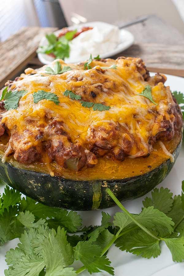 celiac recipe, taco stuffed kabocha