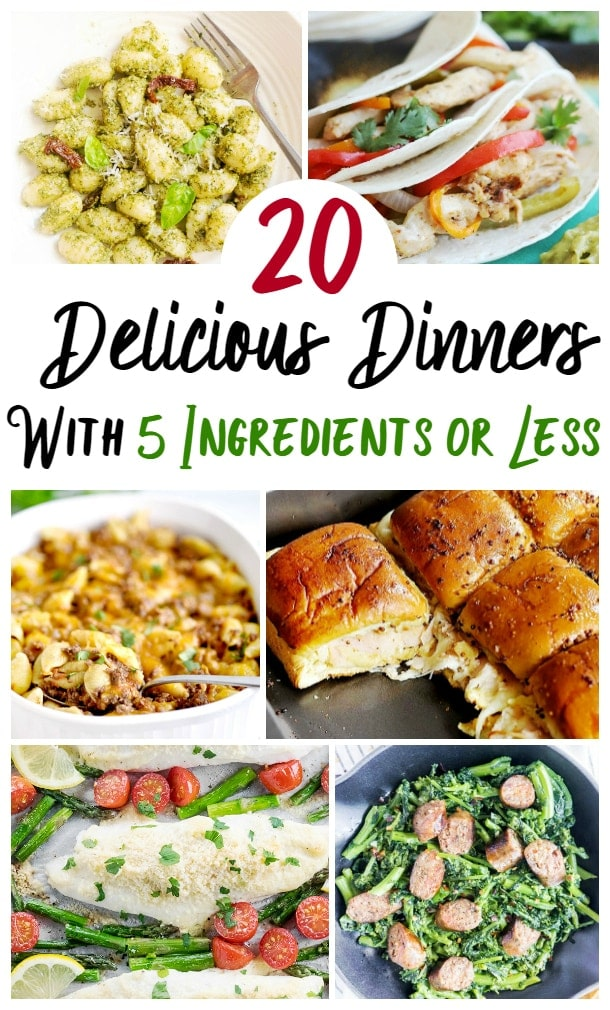 5 Ingredients or Less Dinners