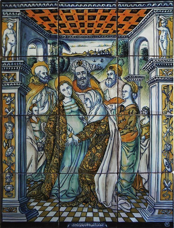 Visitación de la Virgen María a su prima isabel. N. Pisano