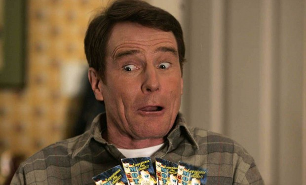hal from malcolm in the middle played by bryan cranston looking shocked at how good linux is