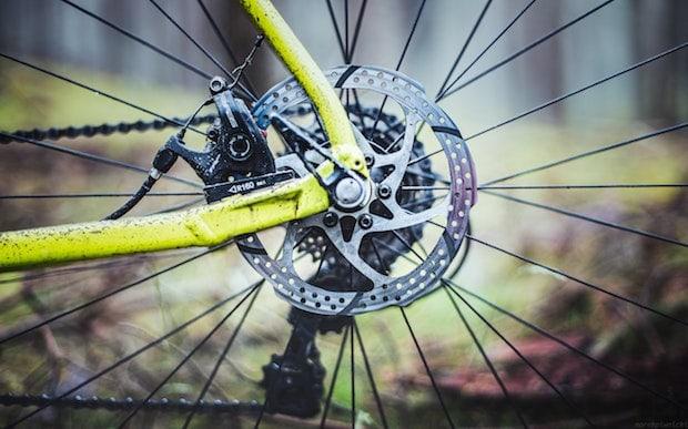Rotor on a bike's disc braking system