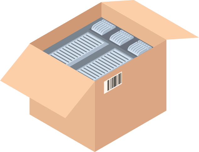 Carton with multiple servers