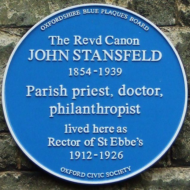 Picture: Blue plaque for John Stansfeld by Owen Massey McKnight ( addedentry) and sourced from Flickr (addedentry/4522466233). Reproduced under a Creative Commons Attribution-ShareAlike 2.0 Generic (CC BY-SA 2.0)  licence.
