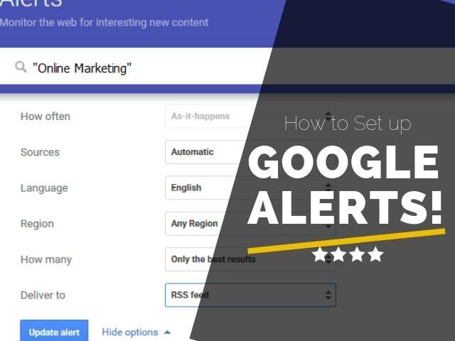 How to Set up Google Alerts