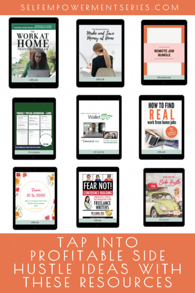 tap into profitable side hustle ideas with these resources