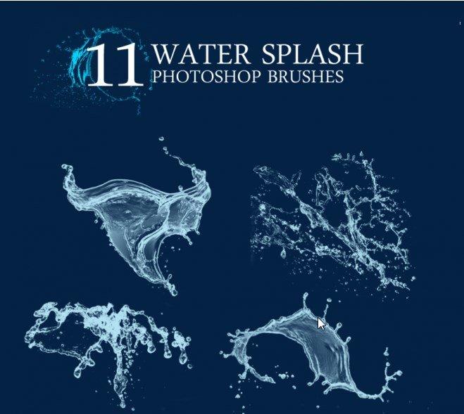 brushes, brushes free, Water Splash Brushes