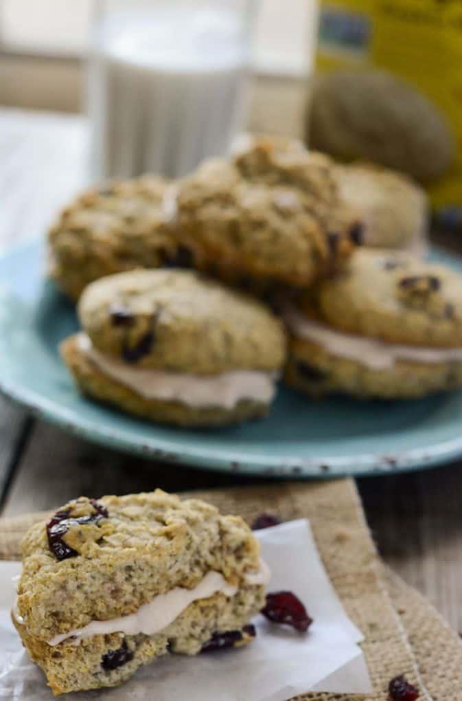 Cranberry Oatmeal Sandwich Cookies Vegan Gluten Free