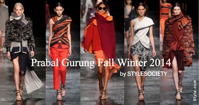 Prabal Gurung Fall Winter 2014 | New York Fashion Week