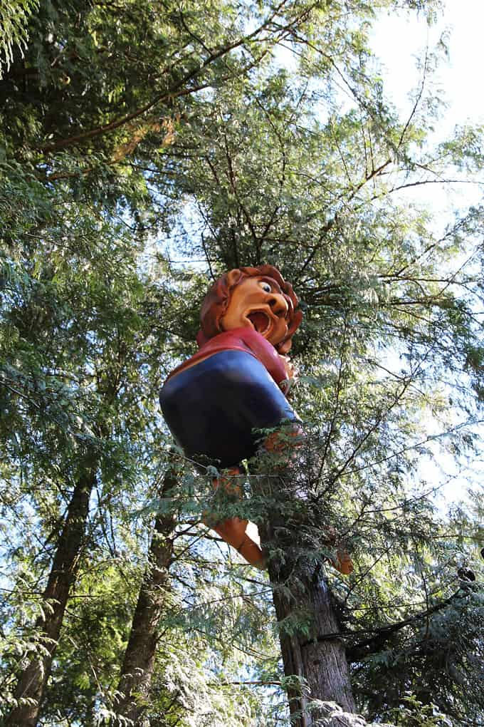 Sculpted Figure in Tree