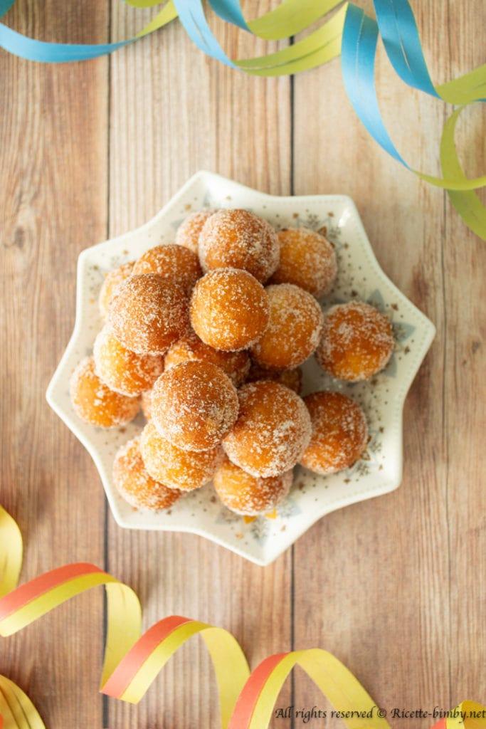 Castagnole senza glutine bimby
