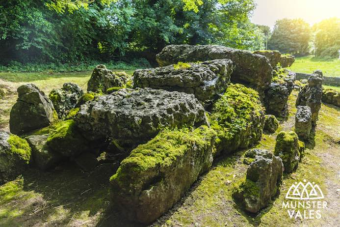 Lough Gur Heritage Centre Review - Munster Vales Ireland Travel Guide - Wedge Tomb Lough Gur Co. Limerick, Ireland.