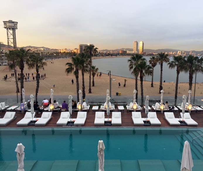W Hotel Barcelona review wet deck area and sun terrace