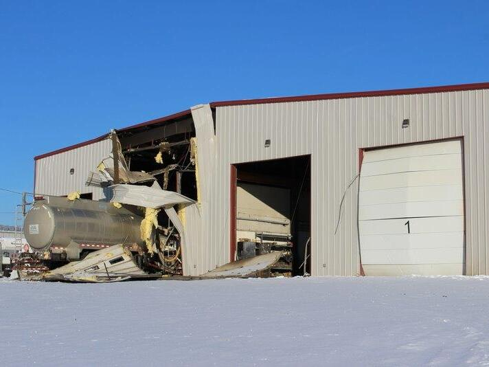 Commercial Building - Truck Fire - Before