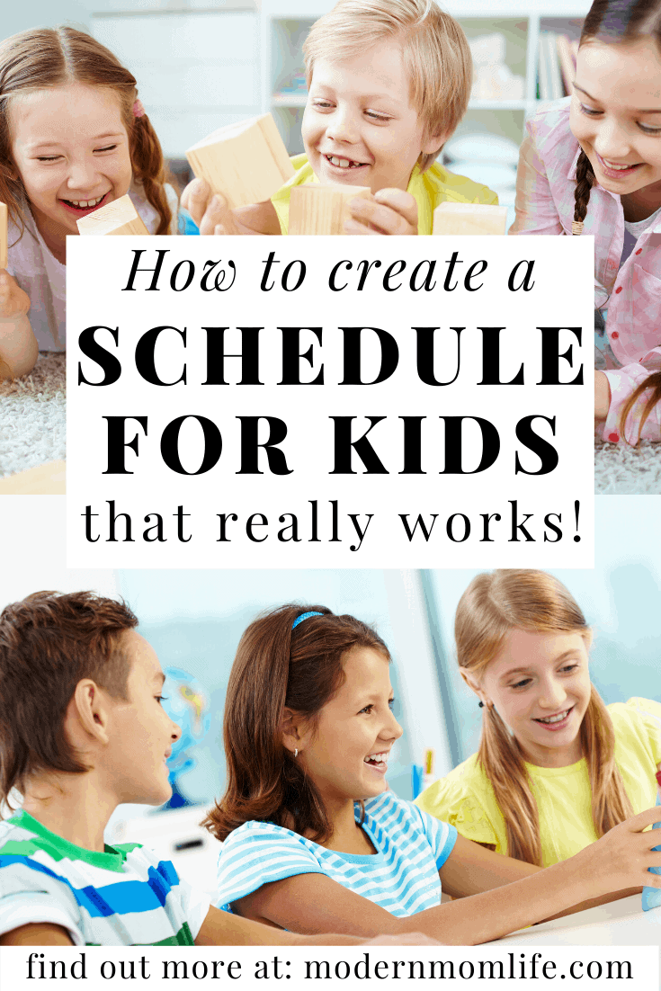 schedule for kids that works