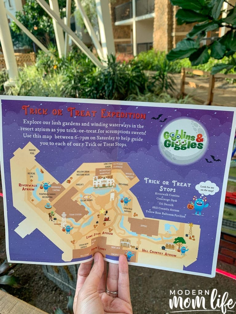Gaylord Texan Trick or Treating Map