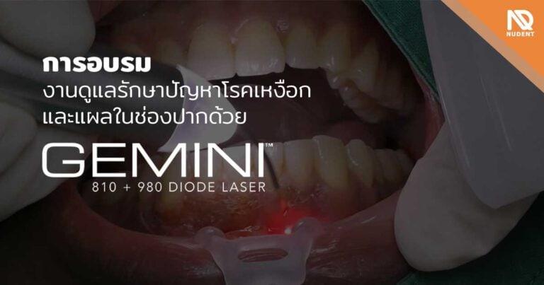 รักษาปัญหาโรคเหงือกและแผลในช่องปาก