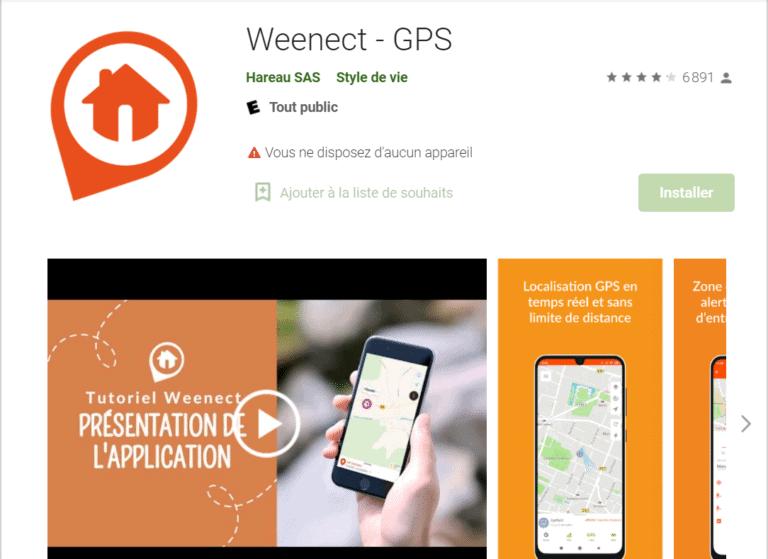 weenect application mobile