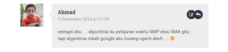 Komentar yang salah, blogger ngawur