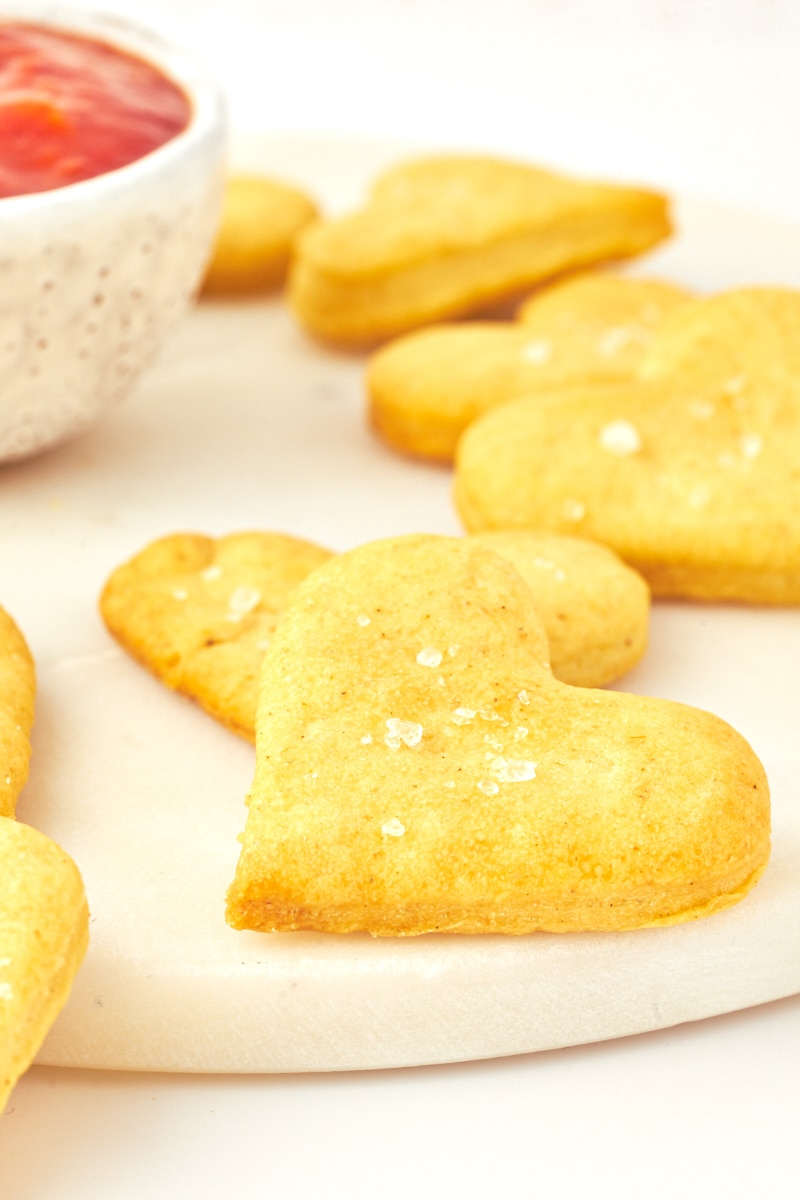 close up olive oil crackers