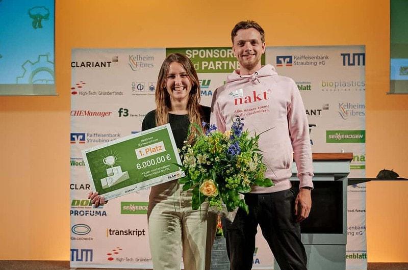 nakt gewinnt 1. Platz bei PlanB Gründerwettbewerb für Faser aus Grünabfällen