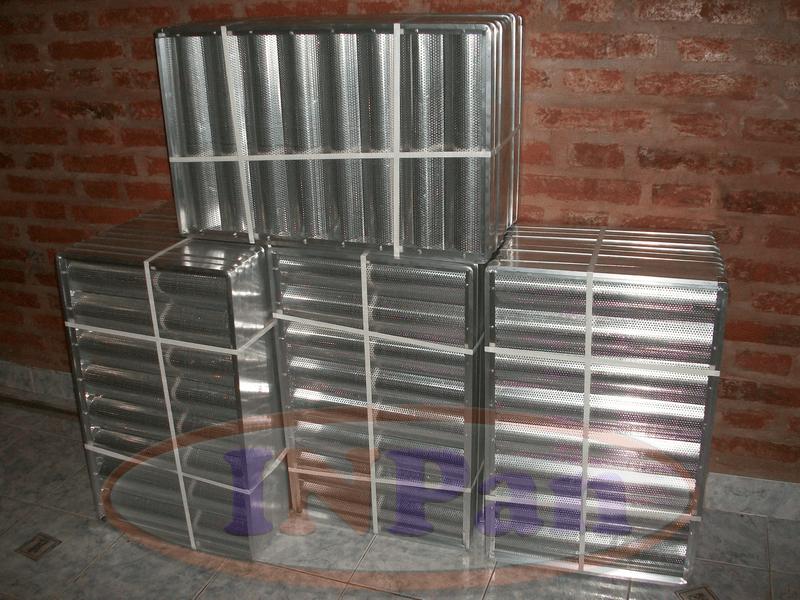 Bandejas bagueteras aluminio perforado