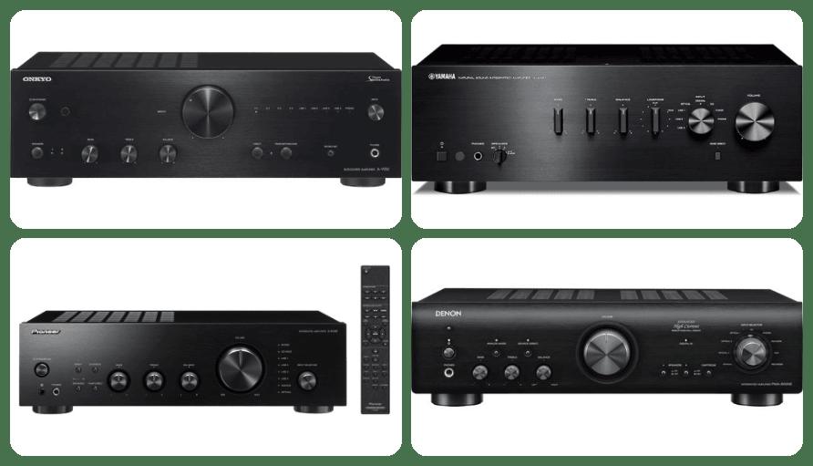 marcas de amplificadores de sonido: pioneer, denon, onkyo y yamaha