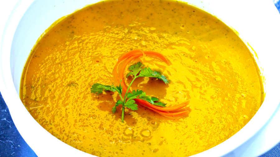 carrot, coriander, soup, vegan