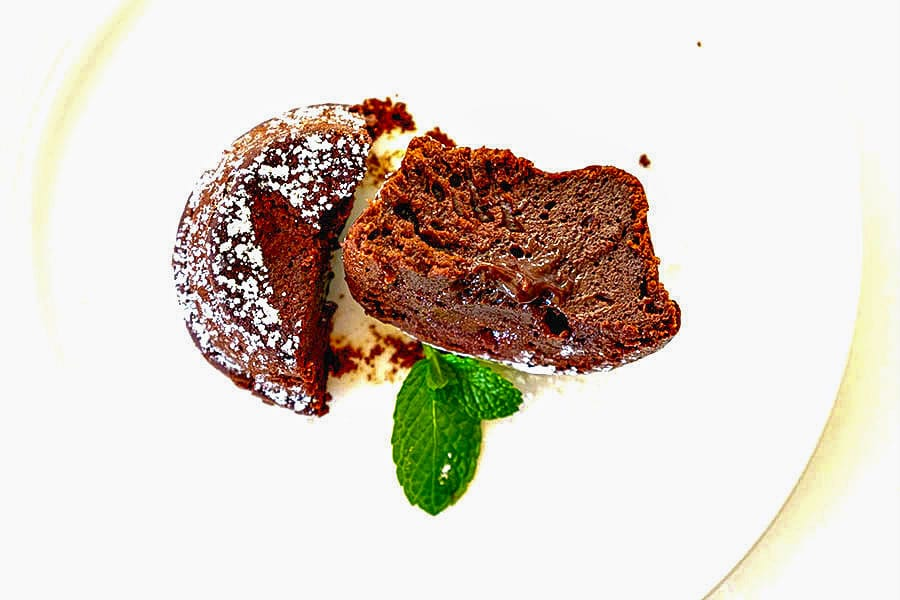 chocolate lava muffins, gluten free