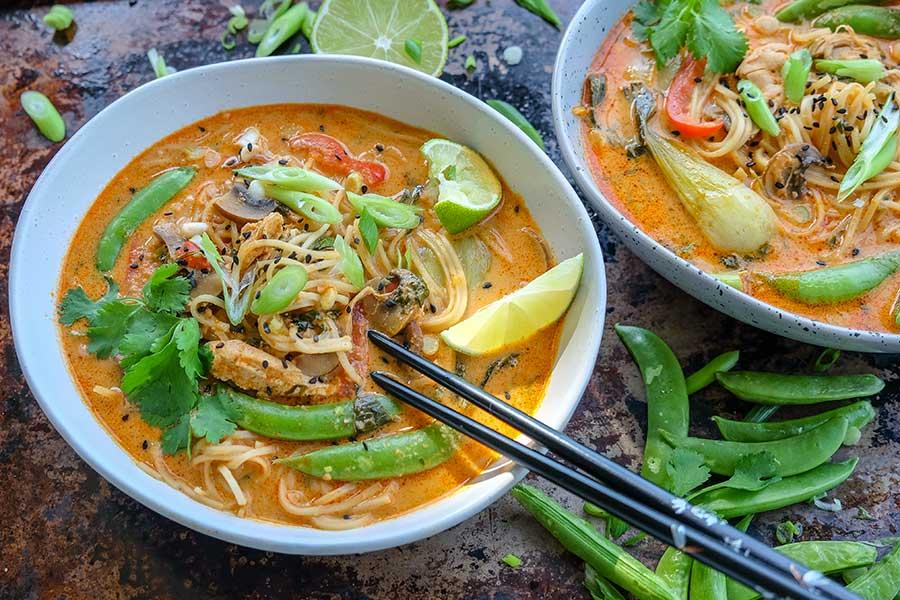 thai chicken ramen, gluten free