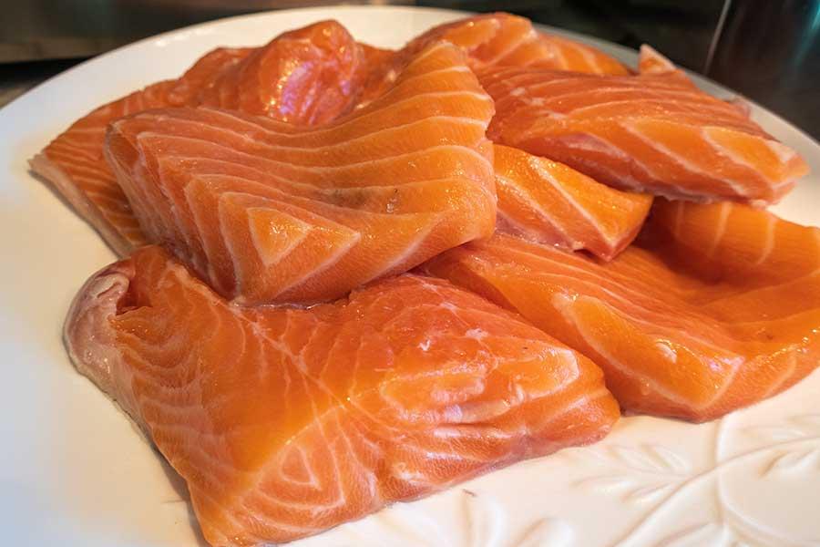 wild salmon, seafood