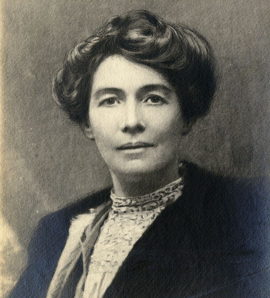 Eemmeline Pethick Lawrence, Wikimedia Commons - no known licencing restrictions.