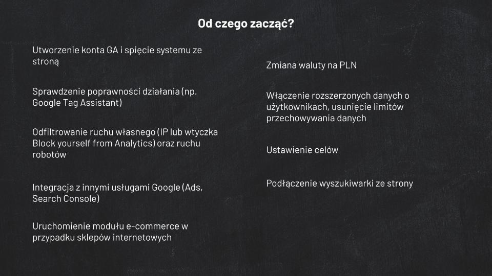 Podstawy Google Analytics - instrukcja 2020 screen