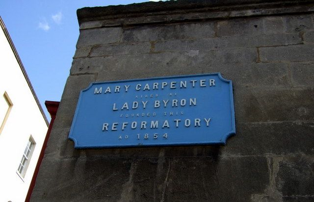 Red Lodge, plaque for Mary Carpenter from geograph.org.uk. Sourced from Wikimedia Commons.