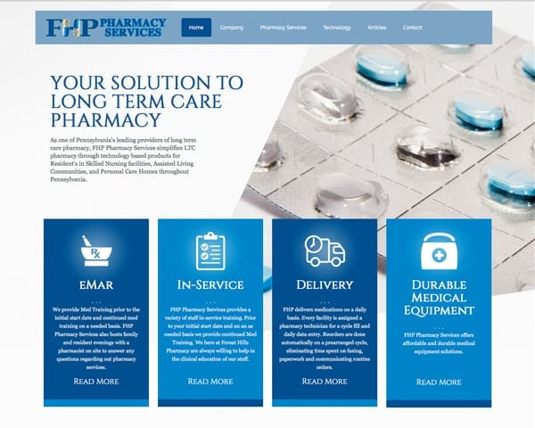 Forest Hills Pharmacy Services Website