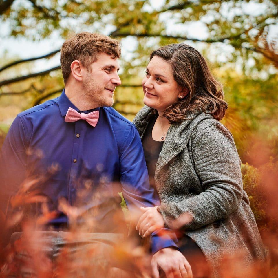 Chicago Wedding Photographer   Allen and Vicky in Lurie Garden, Millennium Park